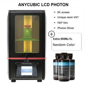 EU ANYCUBIC SLA Photon Imprimante 3D UV Light Cure Assembled TFT+500g/1L Resin