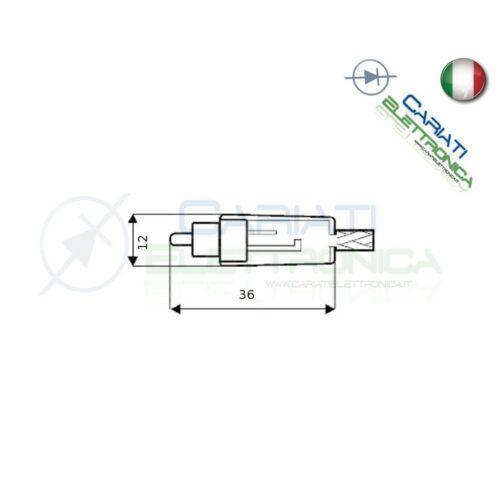 2 PEZZI Connettore Spina RCA volante maschio con guidacavo GIALLO