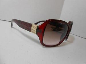 49013073e8 Revlon Dark Red Animal Scales Design w  Metal Accents on Arms New C5 ...