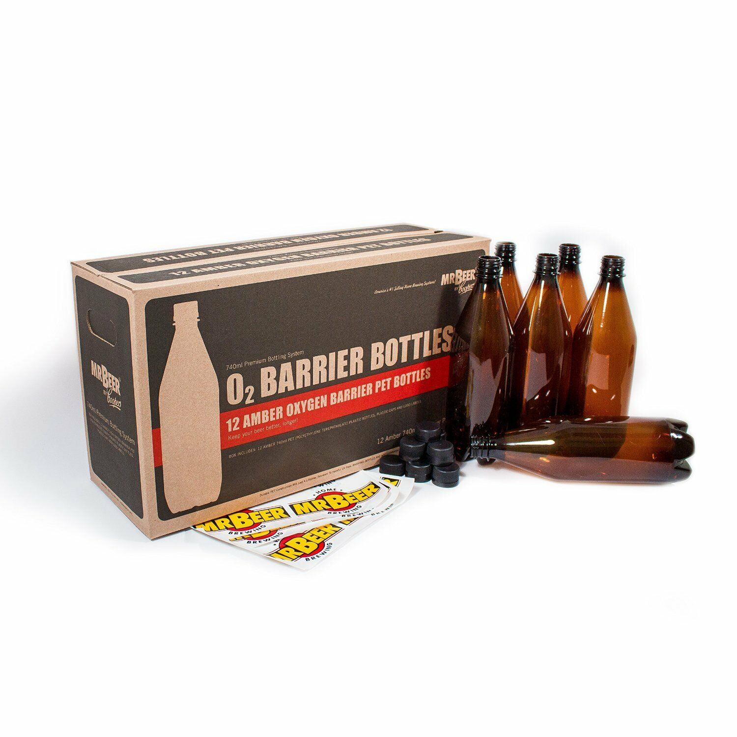 s l1600 Mr. Beer 740ml Deluxe Home Brewing Beer Bottling Set, New, Free Shipping
