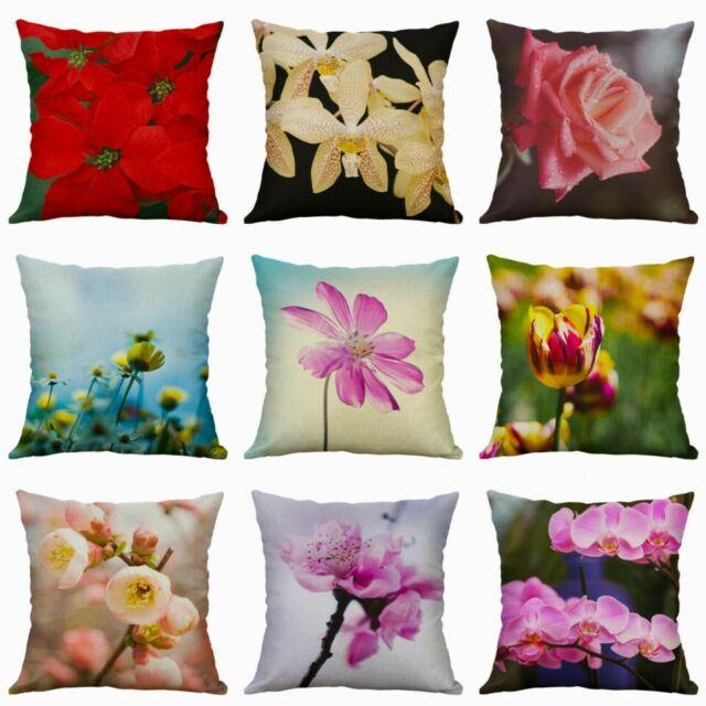 Art Flower Plants Animal Cushion Cover Throw Pillow Case Sofa Home Decor