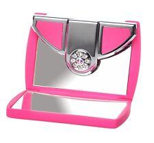 Danielle 5x Magnification Pink Envelope Swarovski Travel Makeup Compact Mirror