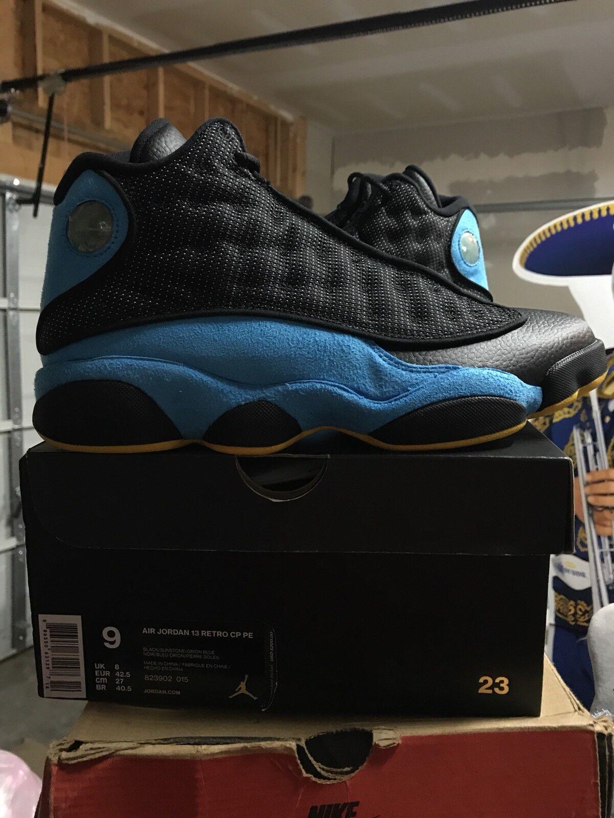 Air jordan 13 cp3 chris retro paul blau - gelbe retro chris - sneaker größe 9 pe xiii xi a88209