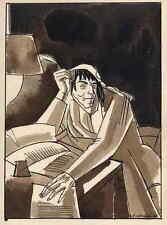 MARAT - EDY LEGRAND - La RÉVOLUTION FRANCAISE - plume et aquarelle signée 1922