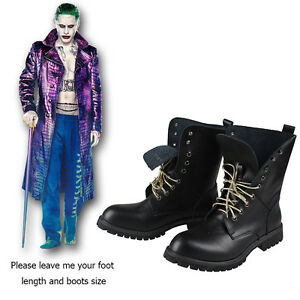 8caa389bd2f9 Suicide Squad DC Joker Cosplay Comic Shoes Boots Jared Leto Batman ...