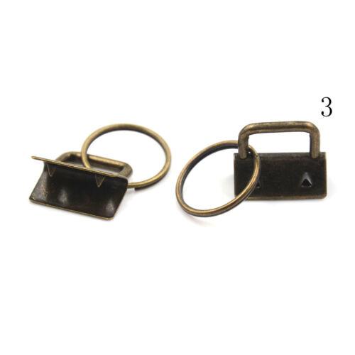 10Pcs 25mm Key Fob Hardware Split Ring For Wrist Wristlets Cotton Tail Clip UWUK
