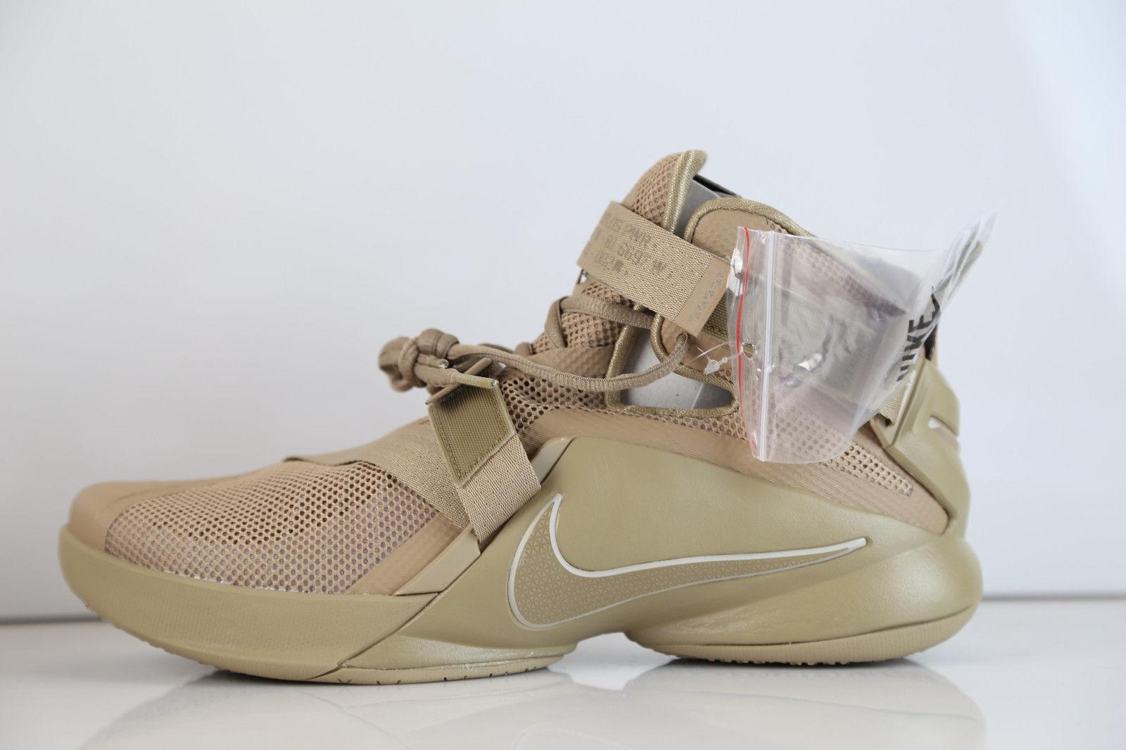 Nike Lebron Soldier 9 IX Premium Sneakers Men's New Desert Camo 749490-222 Sz 15