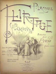 """Spartito TETE-A-TETE da """"Flirtage"""" di P.Lacome edizioni Ricordi 1893"""