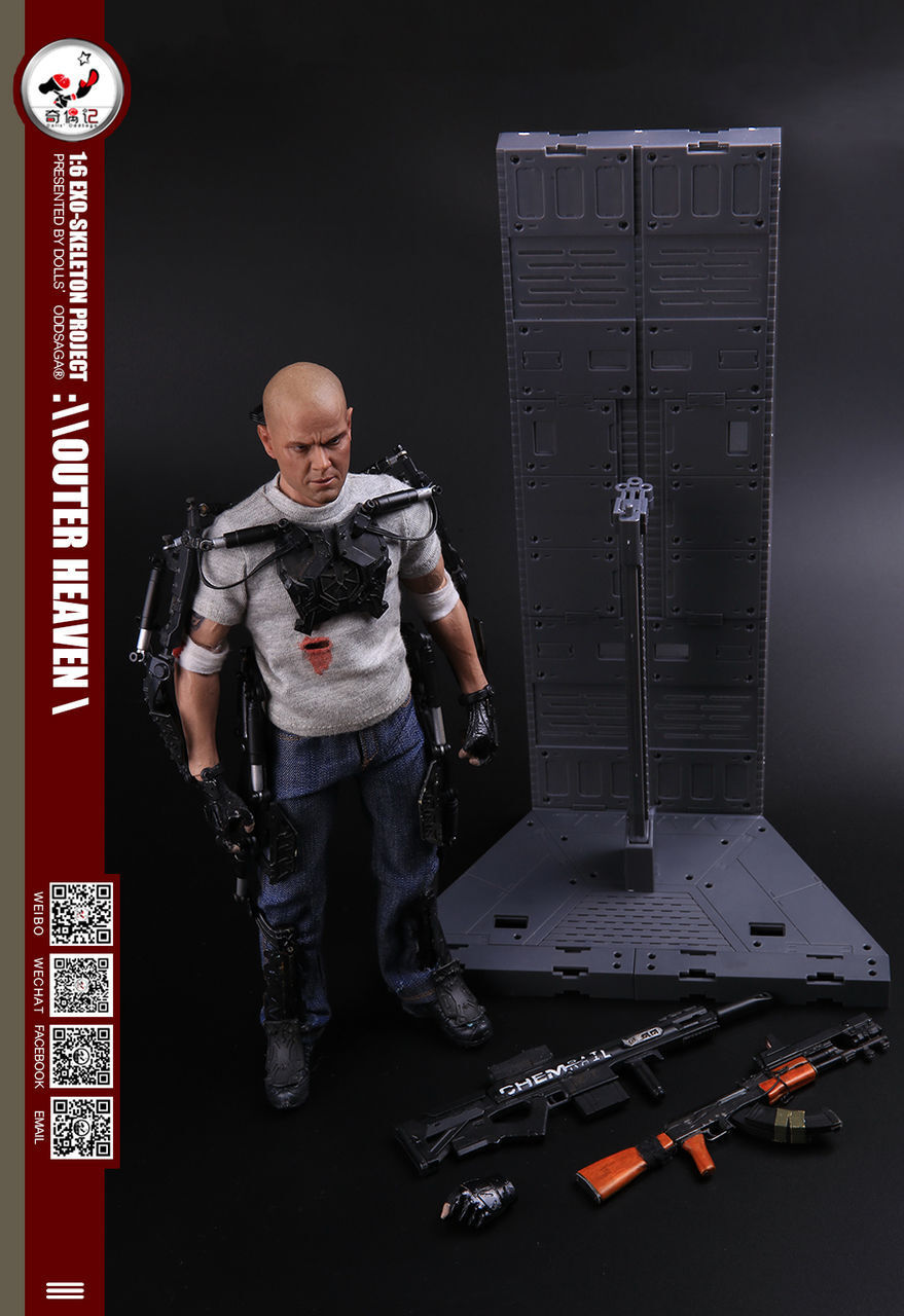 Elysium Matt Damon 1 6 Exo-Skeleton Project  Outer Heaven  Figura Dolls Oddsaga