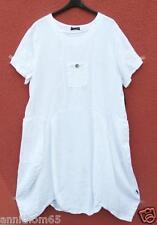 Sarah SANTOS Estate Lino Abito Robe linen dress vestito XL 48 50 Lagenlook