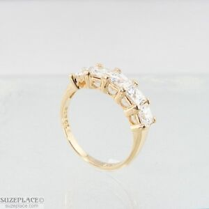 NEW-STERLING-SILVER-5-CTW-CUBIC-ZIRCONIA-RING-SIZE-6