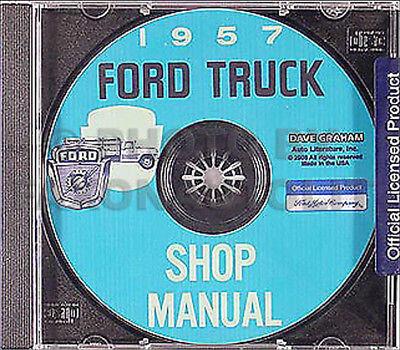 1956 Ford Truck Shop Manual CD 56 Pickup F100 F250 F350 F500-F900 ...