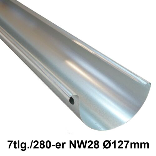 7tlg.//280-er NW28 Ø127mm 2m Dachrinne Ablaufrinne Regenrinne