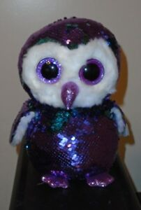 794b37b183f Image is loading Ty-FLIPPABLES-MOONLIGHT-the-Owl-Changing-Sequins-Medium-