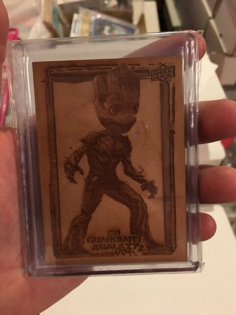 2017 Guardians of the Galaxy Vol. 2 GROOT'S ROOT WOOD CARD ACTION GROOT GR6
