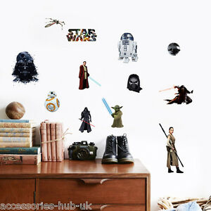 Image Is Loading Childrens Bedroom Nursery Star Wars Wall Stickers Removable   Part 74