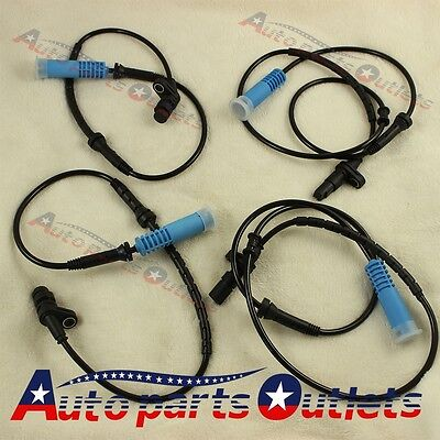 For BMW 740I 740IL 750IL 98-01 FRONT REAR LEFT RIGHT ABS WHEEL SPEED SENSOR 4PC