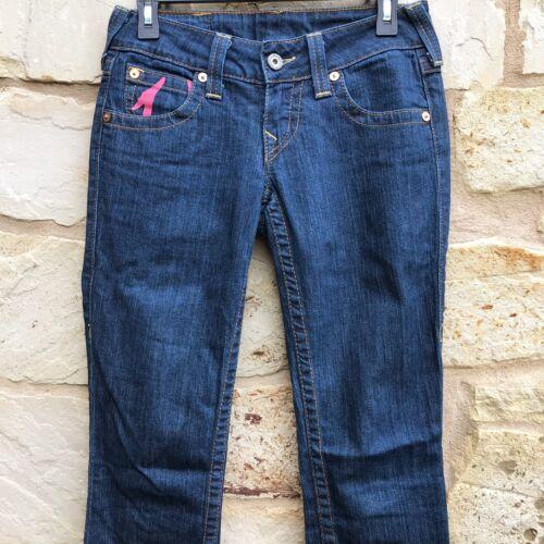Religion Flap Blue Lige Pocket True 26 Pink Størrelse Jeans Leg Billy Kvinder aw0x0Sdq