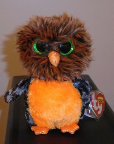 MIDNIGHT the Owl Ty Beanie Boos NEW MWMT 6 Inch