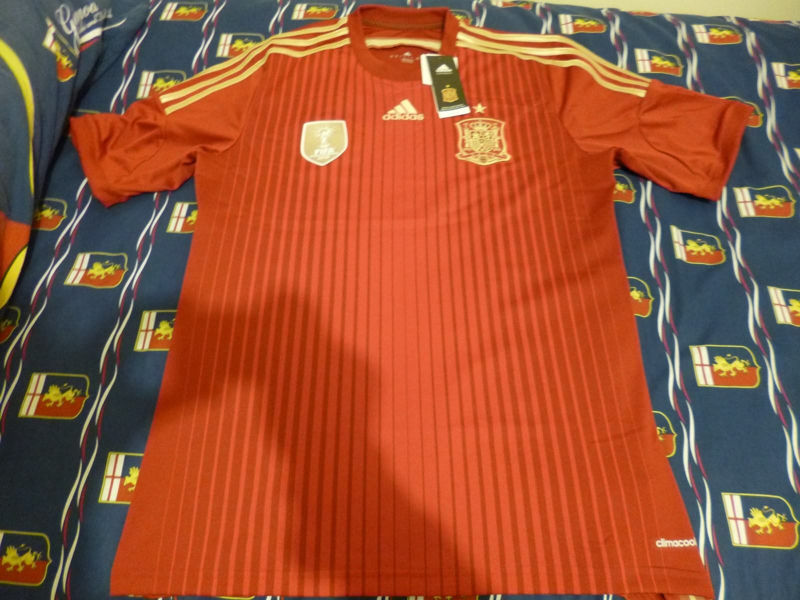 Authentic Adidas Espana Spain Spagna Jersey Camiseta Playera Large Grande BNIB