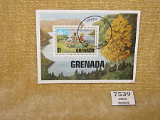 GRENADA 14TH WORLD JAMBOREE NORWAY 1975 MINIATURE SHEET FRANKED SCOUTS USED