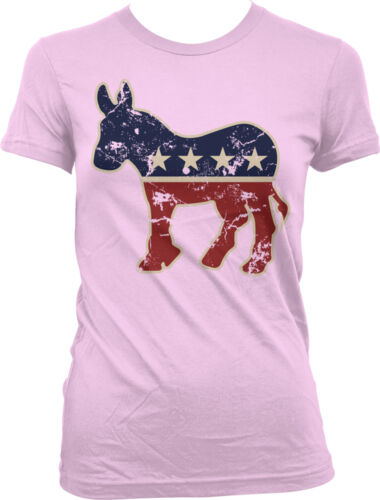 Democrat Donkey Symbol Party Democratic Vote Dem Blue Election D Juniors T-Shirt