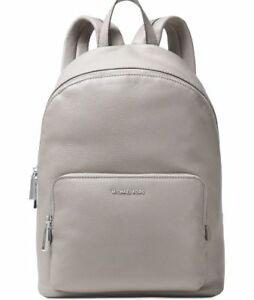 NWT-Michael-Michael-Kors-Women-039-s-Wythe-Leather-Backpack-Bag-298-Pearl-Grey