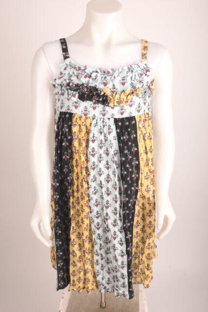 6e2394c29 Zara Girls Sundress Floral Sz 11-12 Yrs 152 cm Multicolor Metallic Shimmer  NWOT