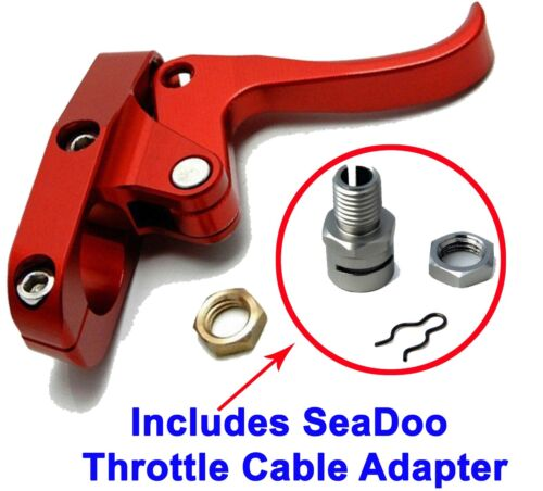 Seadoo Finger Throttle Lever CNC Billet Red /& Sea-Doo Throttle Cable Adapter