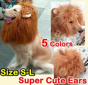Image is loading Pet-Costume-Lion-Mane-Wig-Dog-Cat-Halloween- & Pet Costume Lion Mane Wig Dog Cat Halloween Clothes Fancy Dress up ...
