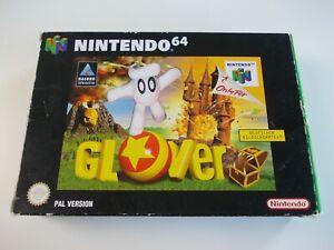 Glover NINTENDO N64 Video Juego Completo (probado y funcionando) PAL