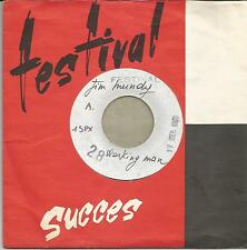 JIM MUNDY Working man FRENCH SINGLE TEST PRESSING FESTIVAL 1968