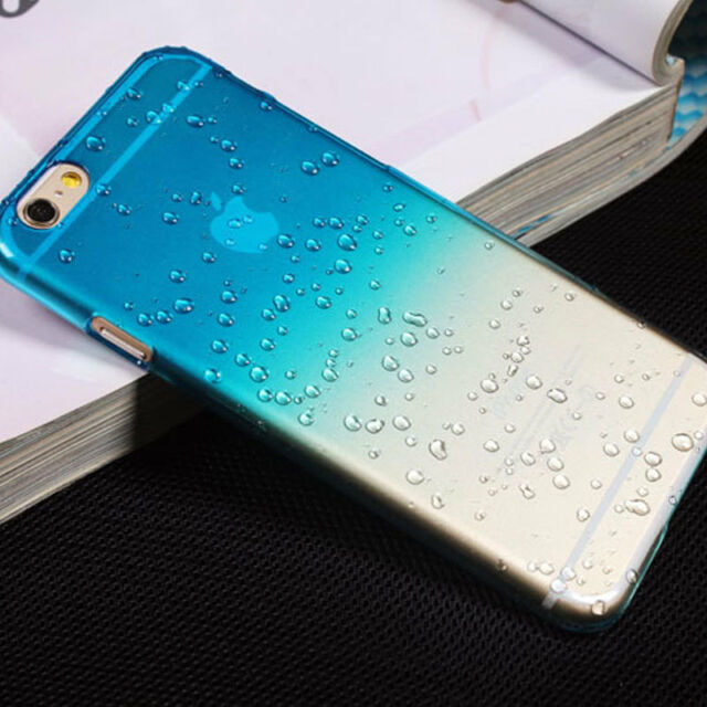 Hard Case Cover Rain Drop for Various Apple iPhone Phones + Screen Protector