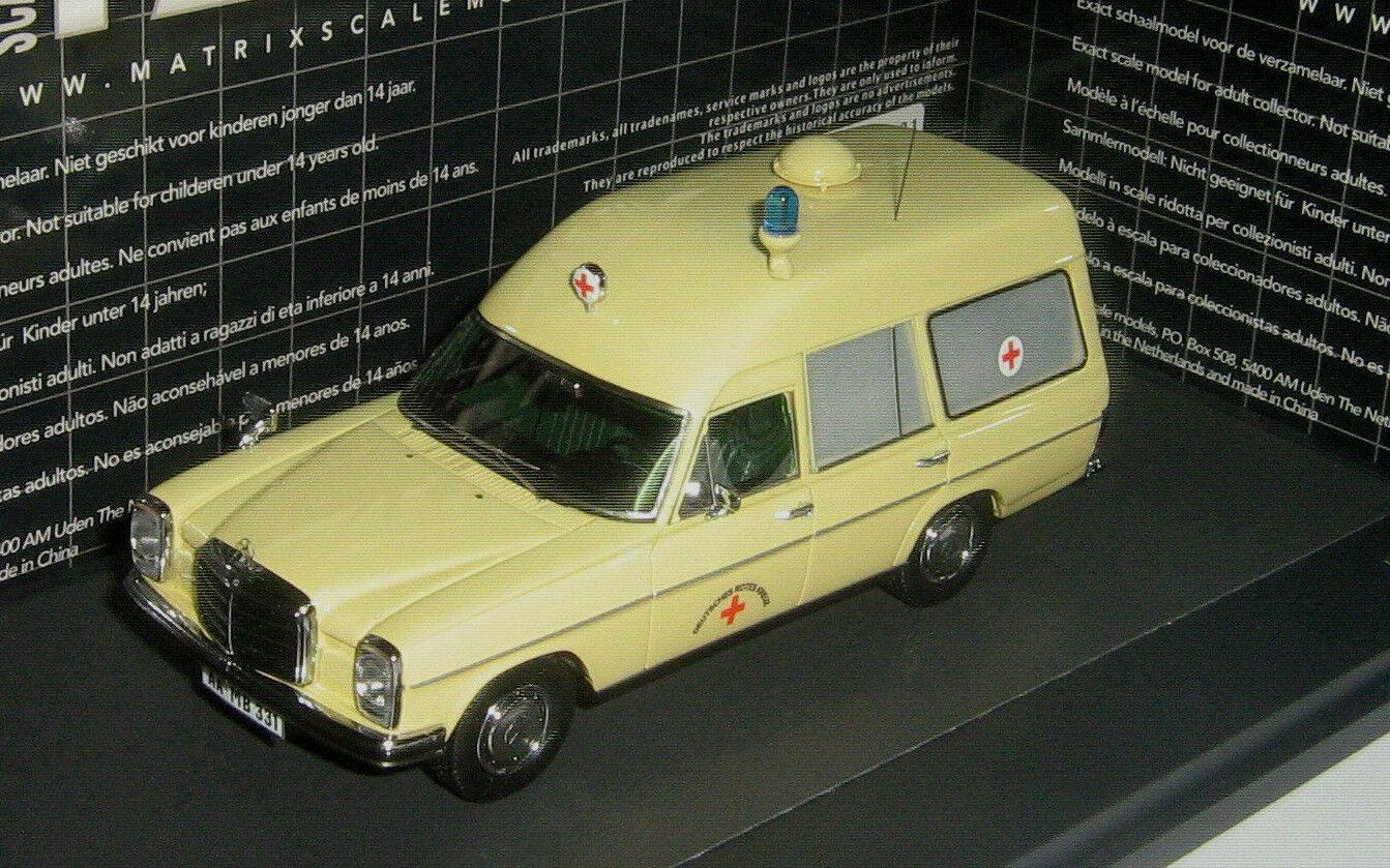 Maravilloso modelCoche Mercedes-benz w115 8 Binz Ambulancia 1969-Marfil - 1 43