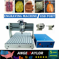 4 Axis Engraver Cnc Router Engraving Drilling Milling Machine 3d Cutter 110v