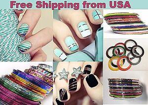 24 Rolls Random Colors High Q Professional Striping Sticker Nail Art