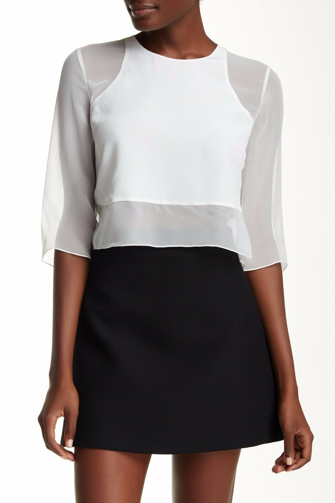 NWT  Elizabeth and James Enno Silk Blouse Ivory [SZ Small]