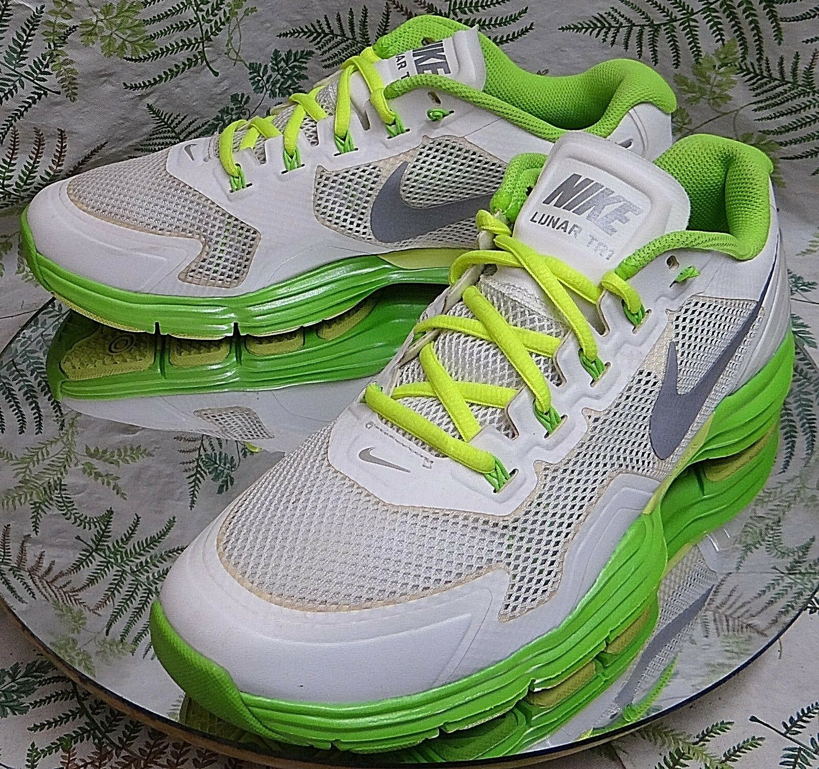 NIKE LUNAR TR1 2012 FASHION GREEN WHITE SNEAKERS FASHION 2012 SHOES US MENS  SZ 10.5 115f9b d99cff522