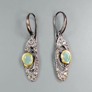 Wedding-Engagement-Natural-Emerald-925-Sterling-Silver-Earrings-E28852
