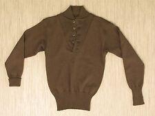 Vintage WW2 Era Military Green 100% Wool Sweater Men's Size M Army Base Layer