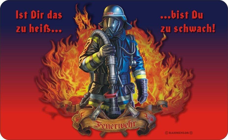 Frühstücksbrettchen DIE BESTEN PAPAS Feuerwehr Brettchen Schneidebrett