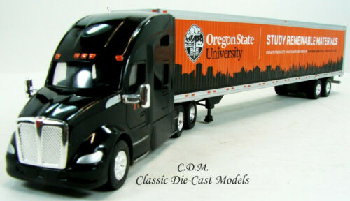 """Kenworth T680 Sleeper Cab TIMBER PRODUCTS w//53/"""" Trailer 1//87 HO TNS58122"""