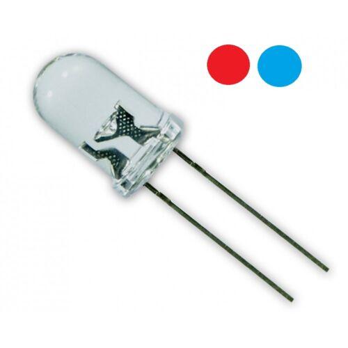 LED 5mm Blinklicht Schnell Rot Blau Durchsichtig DIY Modellbau