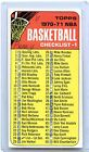 1970-71 TOPPS BASKETBALL #101 CHECKLIST #1, MARKED, 070616