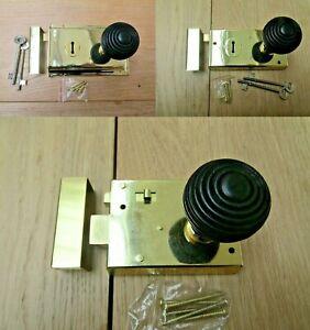 AgréAble Rim Lock Door Knob Poignée Fixe Salle De Bain Chambre à Coucher Snib Loquet Ancienne Rétro Victorien-afficher Le Titre D'origine