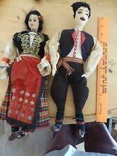 Vintage Old Dolls Serbia Gypsy Aladdin Matador Yugoslavia shumadiya Belgrade