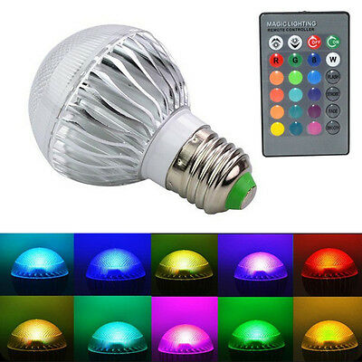 E27 15W RGB Remote Control LED Light Color Changing Lamp Bulb +Remote Controller