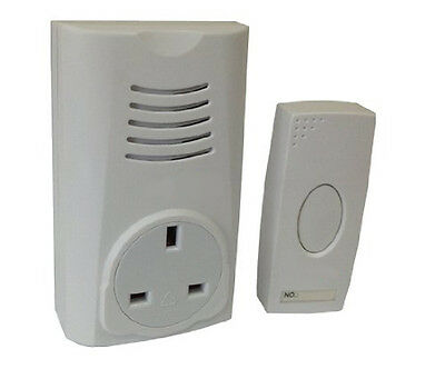 Traditional UK DING DONG Chime Doorbell Cordless Door Bell Wireless Plug Through