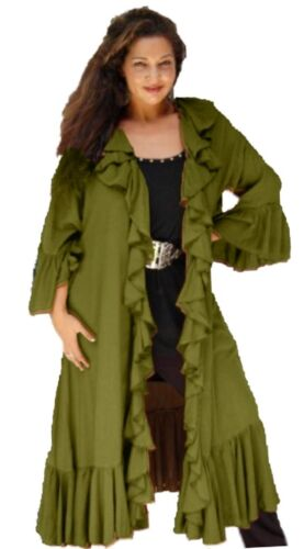 LotusTraders All Sizes Q205 Vintage Womens Jacket Duster Cascade Ruffled