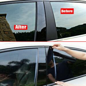 8pcs-Black-Window-Pillar-Column-Cover-Trim-Plastic-For-Nissan-Qashqai-2016-2018